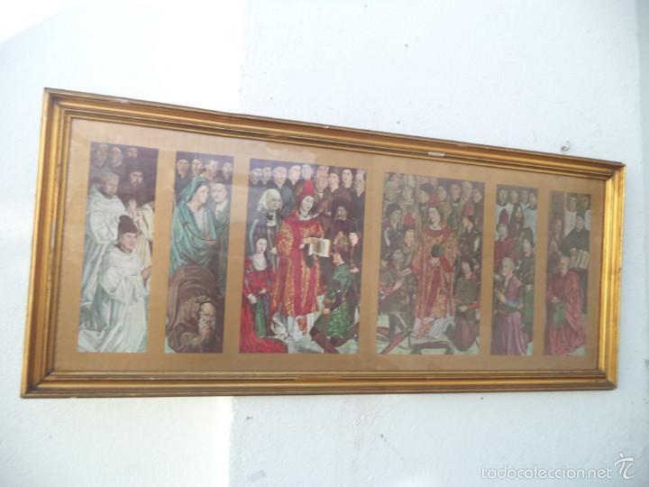 CUADRO DORADO TRIPTICO RELIGIOSO (Arte - Arte Religioso - Trípticos)