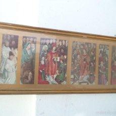 Arte: CUADRO DORADO TRIPTICO RELIGIOSO. Lote 55154424