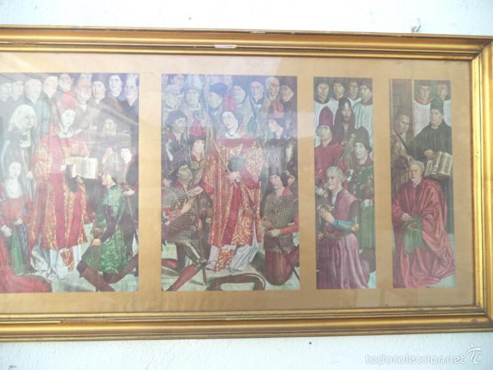 Arte: cuadro dorado triptico religioso - Foto 2 - 55154424