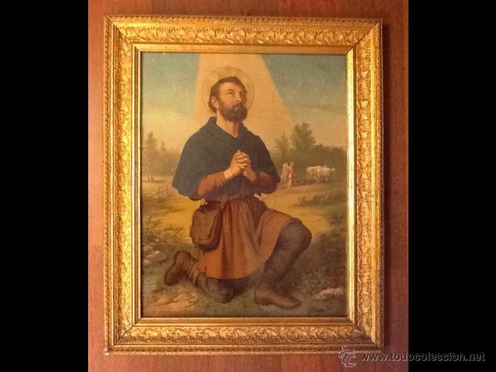 LAMINA RELIGIOSA / ENMARCADA / (Arte - Arte Religioso - Pintura Religiosa - Otros)
