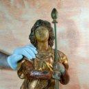 Arte: TALLA ESCULTURA RELIGIOSA EN MADERA SIGLO XVIII LONGINOS. Lote 55338422