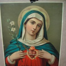 Arte: LITOGRAFIA DEL SAGRADO CORAZON DE MARIA - 42 X 33 CNTº. Lote 55346506