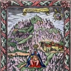 Arte: MONTSERRAT - MARE DE DÉU DE MONTSERRAT – GRAVAT DE FRANCESC GAZAN - 1699. Lote 55379902
