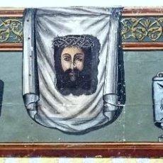 Arte: ESPECTACULAR ÓLEO SOBRE LIENZO DE SANTA FAZ DE CRISTO CON SU BASTIDOR ORIGINAL. ÚNICA. SIGLO XVII.. Lote 55788345