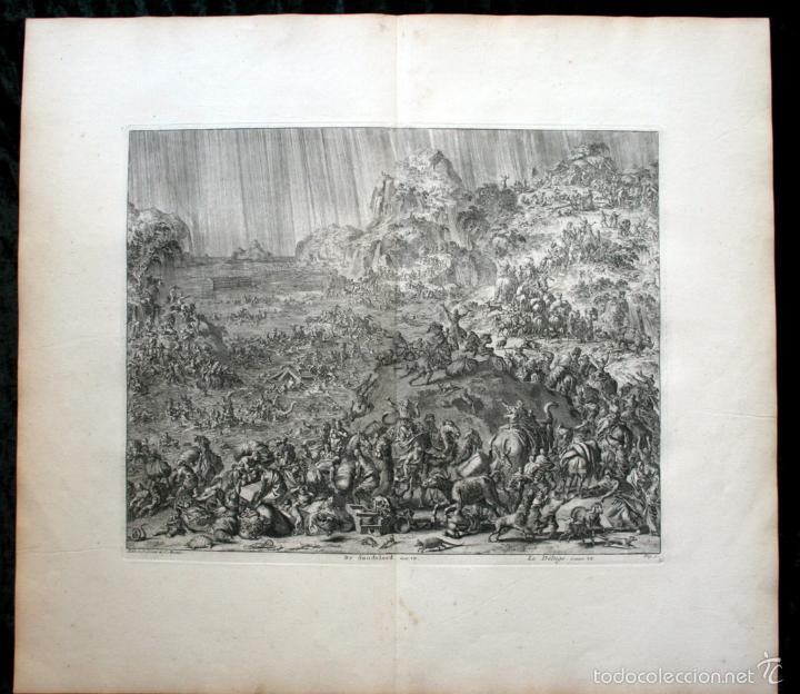1729 GRABADO - BIBLIA - EL DILUVIO UNIVERSAL - JOHANNES LUYKEN - GRABADO - ENGRAVING (Arte - Arte Religioso - Grabados)