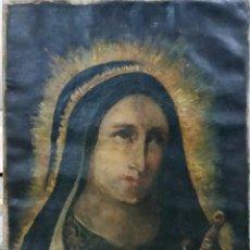 Arte: VIRGEN DOLOROSA - OLEO SOBRE LIENZO. Lote 55909363