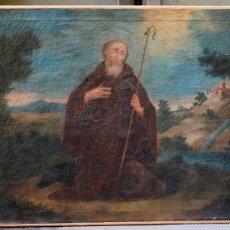 Arte: SAN ANTONIO ABAD, SIGLO XVIII. ÓLEO SOBRE TELA 46X57 CM. REENTELADO. Lote 55921521