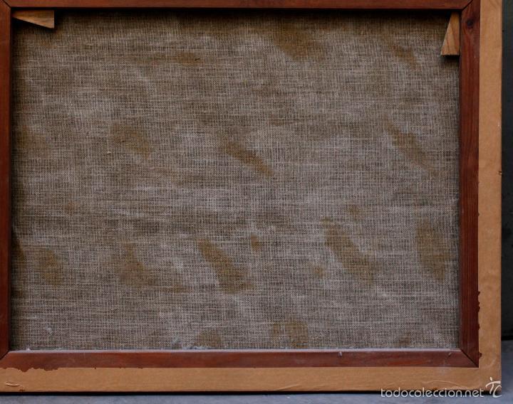 Arte: SAN ANTONIO ABAD, SIGLO XVIII. ÓLEO SOBRE TELA 46x57 cm. Reentelado - Foto 2 - 55921521