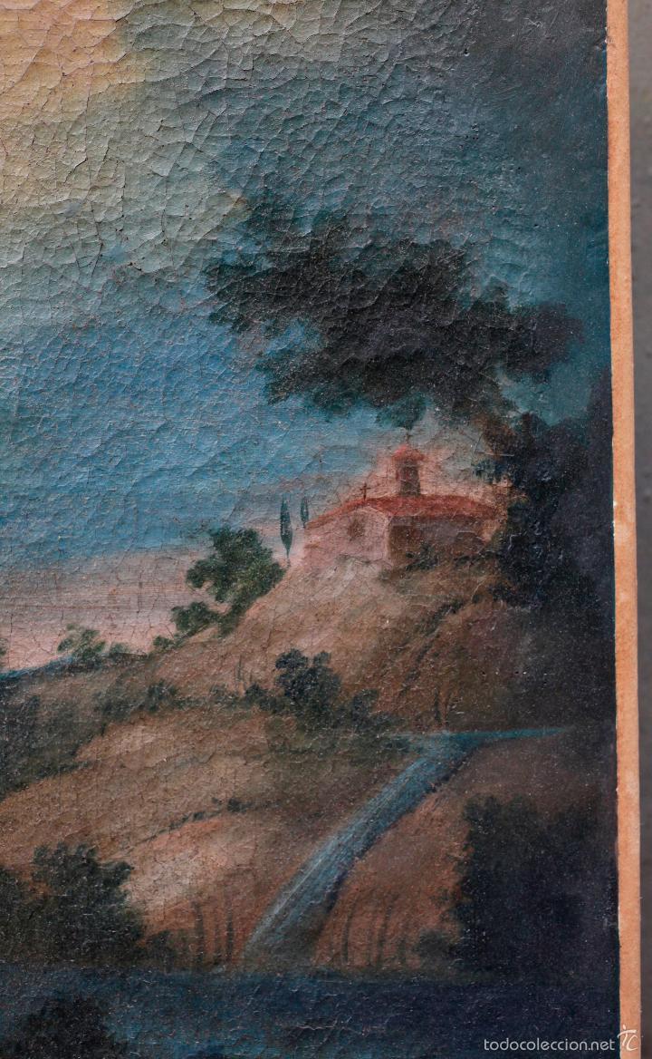 Arte: SAN ANTONIO ABAD, SIGLO XVIII. ÓLEO SOBRE TELA 46x57 cm. Reentelado - Foto 4 - 55921521