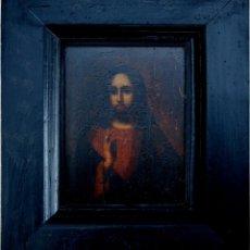 Arte: ICONO RUSO REPRESENTACIÓN DE CRISTO BENDICIENDO - S. XIX. Lote 28516130