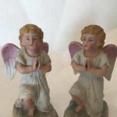 Arte: PAREJA DE ANGELES DE BISCUIT. Lote 56076752