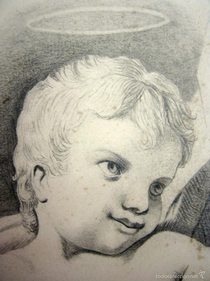 Arte: Magnifico dibujo antiguo a carboncillo - Virgen con Niño Jesus - Foto 2 - 56164524