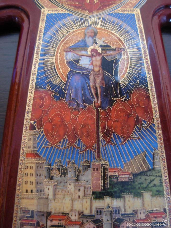 Arte: Bonito icono Cruz de la Trinidad. Lámina sobre madera - Foto 3 - 56201895