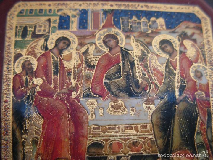 Arte: Bonito icono Cruz de la Trinidad. Lámina sobre madera - Foto 4 - 56201895