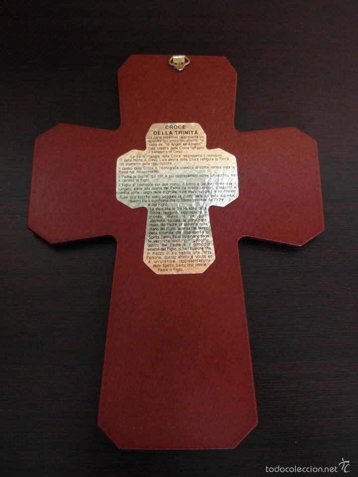 Arte: Bonito icono Cruz de la Trinidad. Lámina sobre madera - Foto 8 - 56201895