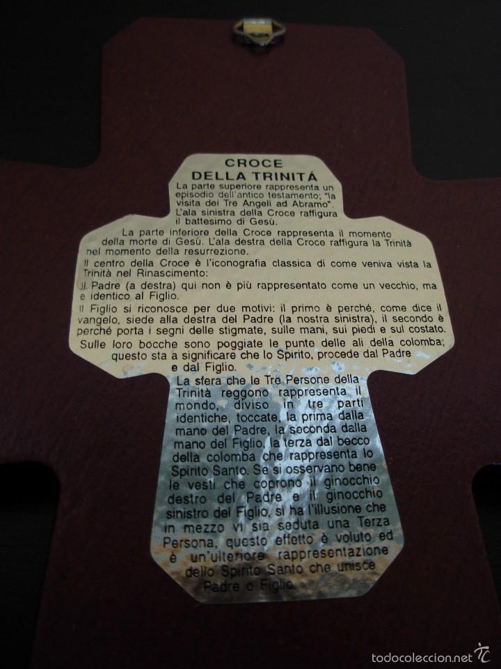 Arte: Bonito icono Cruz de la Trinidad. Lámina sobre madera - Foto 9 - 56201895