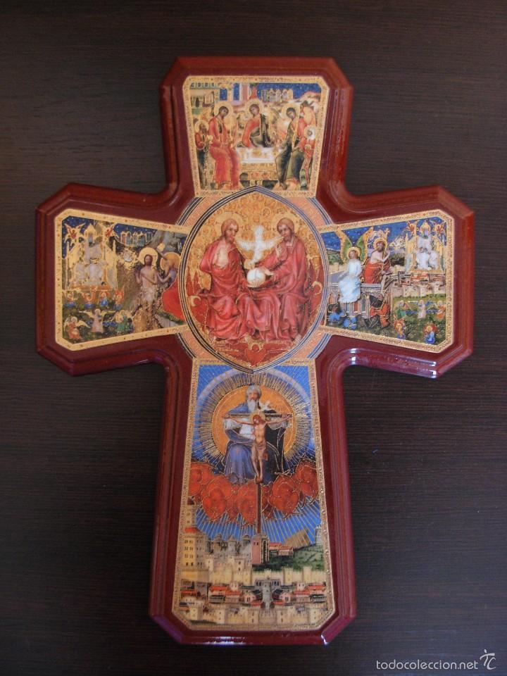 Arte: Bonito icono Cruz de la Trinidad. Lámina sobre madera - Foto 10 - 56201895