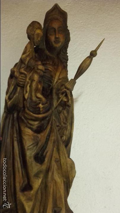 VIRGEN MADERA TALLADA (Arte - Arte Religioso - Escultura)