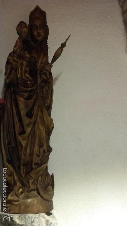 Arte: Virgen madera tallada - Foto 2 - 56227490