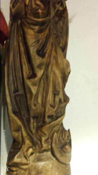 Arte: Virgen madera tallada - Foto 3 - 56227490
