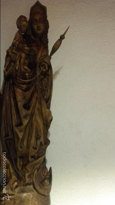 Arte: Virgen madera tallada - Foto 4 - 56227490