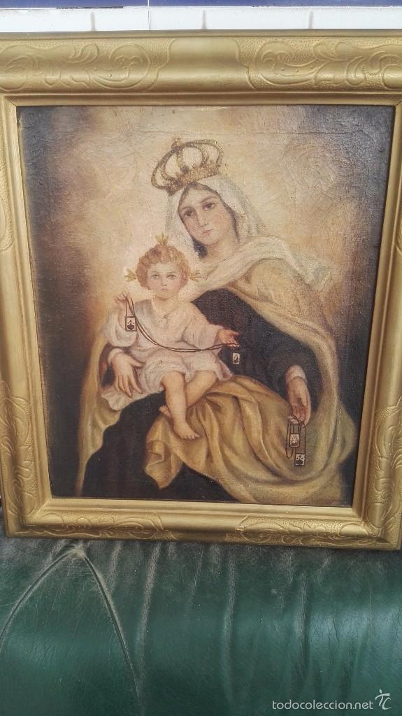 CUADRO ANTIGUO VIRGEN (Arte - Arte Religioso - Pintura Religiosa - Otros)