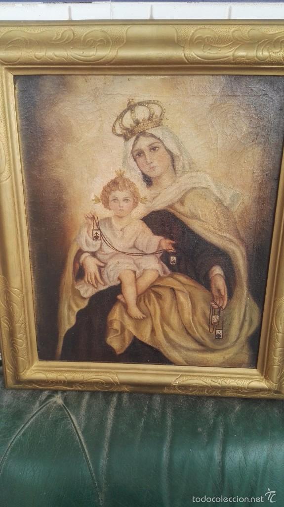 Arte: cuadro antiguo virgen - Foto 2 - 56253236