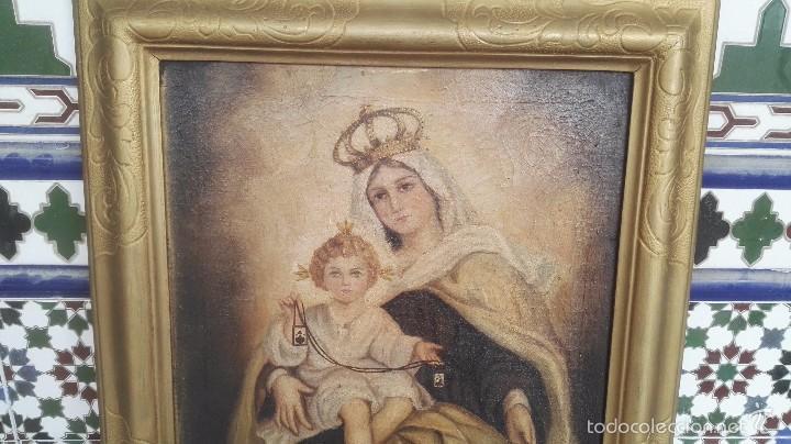 Arte: cuadro antiguo virgen - Foto 6 - 56253236