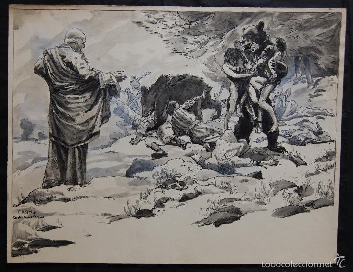 PROFETA: EL CALVO ELISÉO - FRANS GAILLIARD (BÉLGICA, 1861-1932) (Arte - Arte Religioso - Pintura Religiosa - Otros)