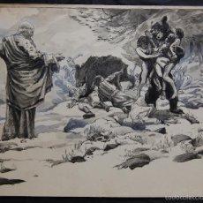Arte: PROFETA: EL CALVO ELISÉO - FRANS GAILLIARD (BÉLGICA, 1861-1932). Lote 27956275