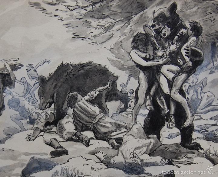 Arte: PROFETA: EL CALVO ELISÉO - FRANS GAILLIARD (Bélgica, 1861-1932) - Foto 3 - 27956275