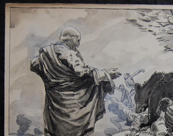Arte: PROFETA: EL CALVO ELISÉO - FRANS GAILLIARD (Bélgica, 1861-1932) - Foto 4 - 27956275