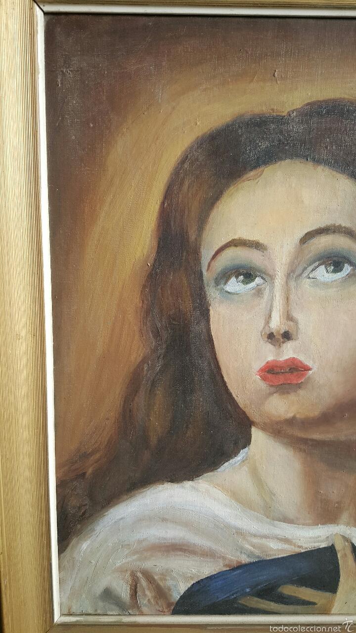 Arte: ANTIGUO Oleo sobre lienzo, LA INMACULADA, VIRGEN 54x63cm - Foto 2 - 56279632