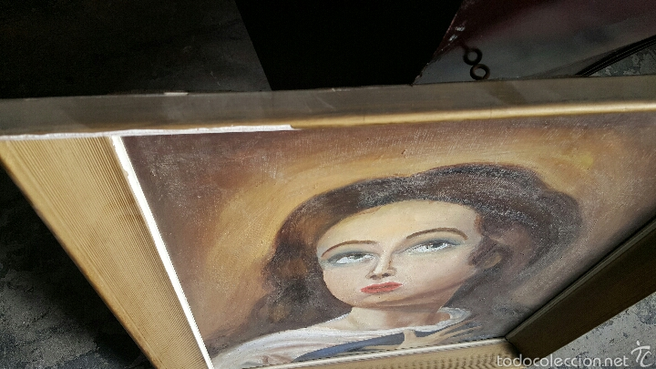 Arte: ANTIGUO Oleo sobre lienzo, LA INMACULADA, VIRGEN 54x63cm - Foto 3 - 56279632