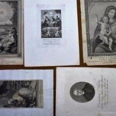 Arte: 5 GRABADOS DE TEMA RELIGIOSO. Lote 56306367