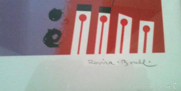 Arte: Litografia Josep Maria Rovira Brull, firmada a mano. Med. 50 x 70 cm - Foto 2 - 56335661