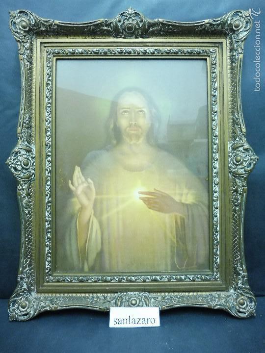 litografía sobre papel sagrado corazón de jesus - Comprar ...