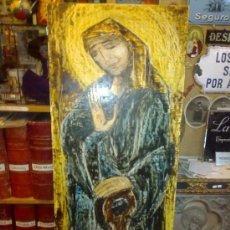 Arte: OLEO SOBRE TABLA MOTIVO RELIGIOSO. VIRGEN. ARGÜELLES, JULIO. CORUÑA. ASTORGA. PINTOR DE RAIZ GALLE. Lote 56387435