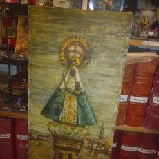 Arte: OLEO SOBRE TABLA MOTIVO RELIGIOSO. VIRGEN. ARGÜELLES, JULIO. CORUÑA. ASTORGA. PINTOR DE RAIZ GALLEGA. Lote 56387471