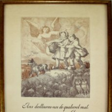 Arte: I2-029. PAREJA DE GRABADOS RELIGIOSOS. LOLA ANGLADA. ESPAÑA. MEDIADOS SIGLO XX.. Lote 56364914