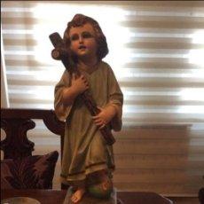 Arte: NIÑO JESUS EN MADERA DE OLOT. Lote 56464038