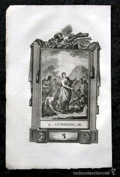 GRABADO DE SAN ANTONINO, M. , - 178X118 MM - DEL S. XI (Arte - Arte Religioso - Grabados)