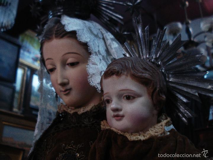 Arte: Virgen del Carmen cap i pota sXIX talla vestidera de madera - Foto 2 - 56523162