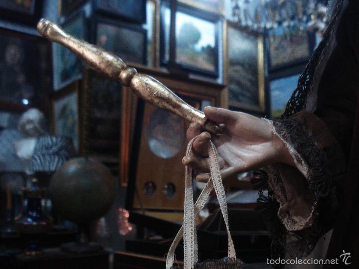 Arte: Virgen del Carmen cap i pota sXIX talla vestidera de madera - Foto 3 - 56523162