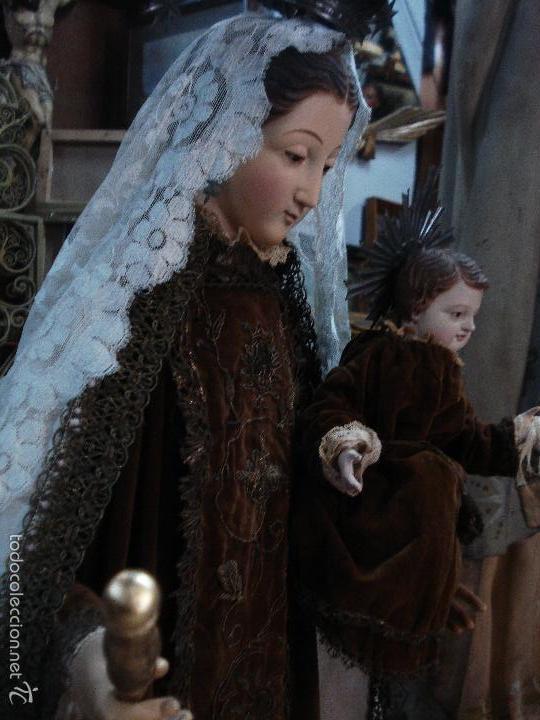 Arte: Virgen del Carmen cap i pota sXIX talla vestidera de madera - Foto 4 - 56523162