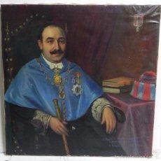 Arte: CUADRO AL OLEO DEL ALCALDE DE ZARAGOZA (1927 A 1929). DON MIGUEL ALLUE SALVADOR, VESTIDO DE CATEDRAT. Lote 56565432