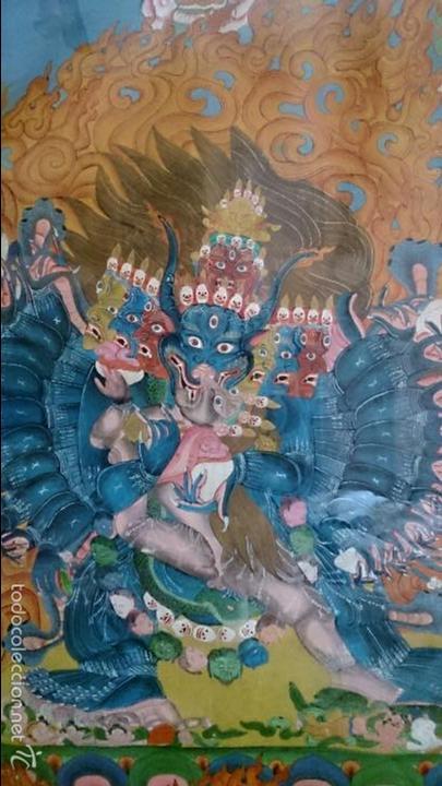 Arte: ANTIGUO TANKA TIBETANO - Foto 3 - 56584879