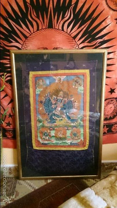 ANTIGUO TANKA TIBETANO (Arte - Arte Religioso - Pintura Religiosa - Otros)