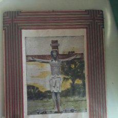 Arte: ANTIGUA FOTOGRAFIA O SERIGRAFÍA DEL CRISTO DE CABRERA. AÑOS 40. Lote 56586940