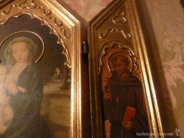 Arte: triptico religioso dorado - Foto 5 - 56618075